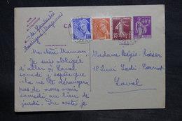 FRANCE - Entier Postal Type Paix + Compléments De Martigné Pour Laval En 1940 - L 33811 - Entiers Postaux