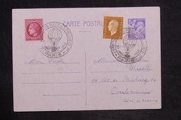 """FRANCE - Oblitération """" Exposition Ballons Postes Du Siège De 1870 """" En 1946 Sur Entier Postal Type Iris - L 33814 - Entiers Postaux"""