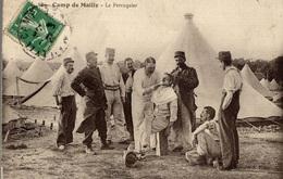 CPA Camp De Mailly Le Perruquier - Animée - Militaria