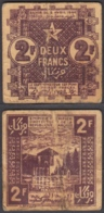 Morocco 2 Francs 1944 (F-VF) Condition Banknote P-43 - Marruecos