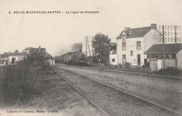 ROCHE-MAURICE-LES-NANTES - LE TRAIN ARRIVE EN GARE - BEAU PLAN - TOP !!! - Other Municipalities