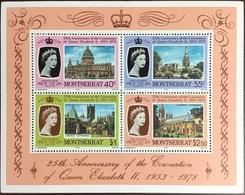 Montserrat 1978 25th Anniversary Coronation Minisheet MNH - Montserrat