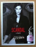 J-P Gaultier - Publicité Scandal à Paris - Cartes Parfumées