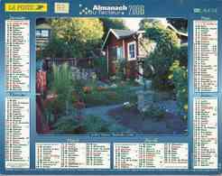 °° Calendrier Almanach La Poste 2006 Lavigne - Dépt 32 - Jardin à Stockholm Et Chaumière à Lisieux - 01 - Kalenders