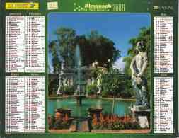 °° Calendrier Almanach La Poste 2006 Lavigne - Dépt 32 - Lucques Et Trapani En Italie - Calendari