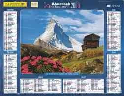 °° Calendrier Almanach La Poste 2006 Lavigne - Dépt 32 - Mont Cervin Et Massif Des Dolomites - Kalenders