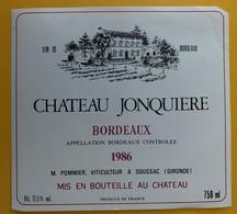 10824 - Château Jonquiere 1986 - Bordeaux