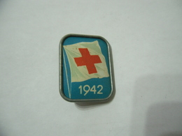 Distintivo Cri Pin Badge Croce Rossa Red Cross Croix Rouge 1942 - Italia