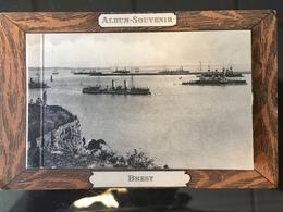 Cpa Ancienne Vers 1900 Album Souvenir Dépliable Non Circulée 7 Vues - Brest