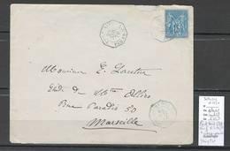France -Lettre PORT SAID + Correspondance D'Armées -Paq Fr No 7 -  1879 + Ligne N - Paquebot Yangtse - Postmark Collection (Covers)