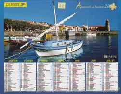 °° Calendrier Almanach La Poste 2007 Lavigne - Dépt 32 - Collioure Et Calanque De Dramont - Kalenders