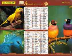 °° Calendrier Almanach La Poste 2007 Lavigne - Dépt 32 - Oiseaux - Kalenders