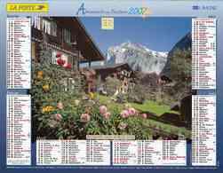 °° Calendrier Almanach La Poste 2007 Lavigne - Dépt 32 - Paysage Alpes Suisse Et Vache Dans Alpages - Kalenders