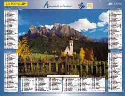 °° Calendrier Almanach La Poste 2007 Lavigne - Dépt 32 - Paysages Du Tyrol Et Des Alpes - Kalenders