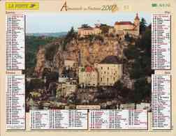 °° Calendrier Almanach La Poste 2007 Lavigne - Dépt 32 - Rocamadour Et Sauveterre De Béarn - Kalenders