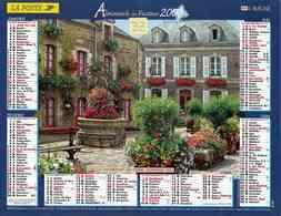 °° Calendrier Almanach La Poste 2007 Lavigne - Dépt 32 - Rochefort En Terre Et Etretat - Kalenders