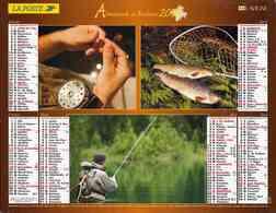 °° Calendrier Almanach La Poste 2007 Lavigne - Dépt 32 - Scènes De Pêche Et De Chasse - Kalenders