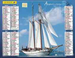 °° Calendrier Almanach La Poste 2007 Lavigne - Dépt 32 - Voiliers 3 Mâts - Kalenders