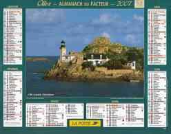 °° Calendrier Almanach La Poste 2007 Oller - Dépt 32 - Ile Louët Et Moulin De Marie-Antoinette Versailles - Kalenders