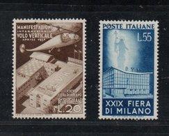 XXIX Fiera Milano & Verdi: Due Ser.cpl. Nuove STL (€ 205) - 1946-60: Nieuw/plakker