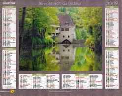 Almanach La Poste 2009 Oberthur - Dépt 32 - Moulin D'Aulanac Et Pont Sur L'Arac - Kalenders