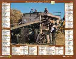 °° Calendrier Almanach La Poste 2010 Lavigne - Dépt 32 - Battage à L'ancienne Et Labours Avec Cheval - Kalenders