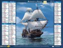 °° Calendrier Almanach La Poste 2011 Lavigne - Dépt 32 - Voiliers - Kalenders