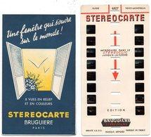 Photos Stéréoscopiques, STEREOCARTE BRUGUIERE : N° 4807 - Suisse - VEVEY MONTREUX - Photos Stéréoscopiques