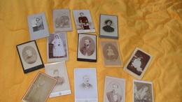 LOT DE 14 PHOTOS ANCIENNES DIVERS PORTRAIT, FEMME HOMME...V. FROMENT BRUXELLES, MARIUS PARIS, GANTIER MAURICE AIN... - Anonyme Personen