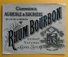 10838 -  Rhum Bourbon Cie Agricole Et Sucrière De L'Ile De La Réunion - Rhum
