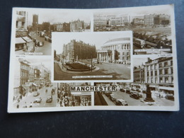 19948) MANCHESTER MIDLAND HOTEL - BUS STATION - ANN'S SQUARE - MARKET STREET VIAGGIATA 1959 - Manchester