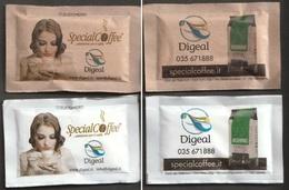 2 Bustine Di Zucchero Da Collezione - Special Coffee - Digeal (vedi Foto) - Zucchero (bustine)