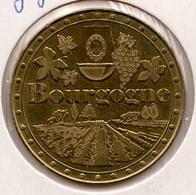 Bourgogne : Composition Avec Blason Au Verso (France-Médaille) - Touristiques