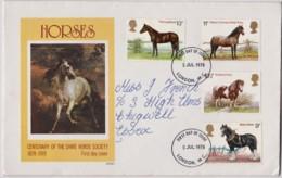 Great Britain 1978 Horses Philart FDC - 1971-1980 Decimal Issues