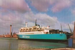 """CARTE POSTALE ORIGINALE DE DIMENSIONS 10 CM / 15 CM : LE HAVRE """" LE LEOPARD """" CAR FERRIES P. ET O.  SEINE MARITIME (76) - Ferries"""