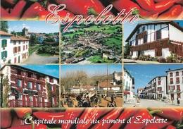 64 - ESPELETTE - Capitale Mondiale Du Piment D'Espelette - 6 Vues - Cpm - Vierge - - Espelette