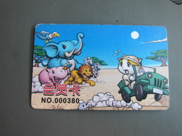 Online Machine Game Membership Card, Cat, Elephant, Lion..... - Télécartes