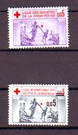 2 TIMBRES LIGUE INTERNATIONALE DES SOCIETES DE LA CROIX ROUGE 1 De 0,05F Et 1 De 0.03 ANNULE ET SURCHARGE 0.05 - Commemorative Labels