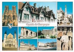 51 - REIMS - Capitale De Champagne - 9 Vues - Cpm - Vierge - - Reims