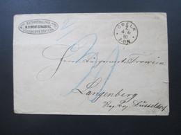 Deutsches Reich 1880 Expedition Der M. Dumont-Schauberg Kölnischen Zeitung Stempel K1 Coeln U. Ra 3 Langenberg - Brieven En Documenten