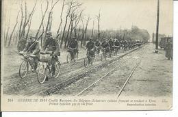 Guerre De 1914-Conflit Européen-En Belgique-Eclaireurs Cyclistes Français - War 1914-18