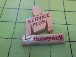 1015b Pin's Pins / Beau Et Rare : THEME INFORMATIQUE / HONEYWELL SERVICE PLUS - Computers