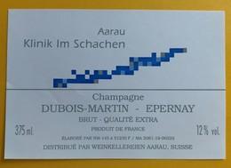 10855 - Champagne Dubois-Martin Epernay Pour Klinik Im Schachen Aarau Suisse - Champagne