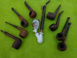 Lot De 9 Pipes Matiere A Identifier -1- - Unclassified