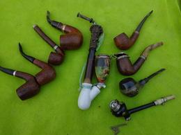 Lot De 9 Pipes Matiere A Identifier -2- - Unclassified