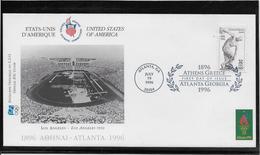 Thème Jeux Olympiques - Atlanta 1996 - Sports - Enveloppe - Estate 1996: Atlanta