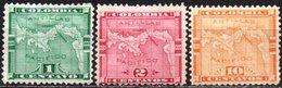 Panama / Colombia 1892-1896 Scott 15,16,18 MH, Map - Panama