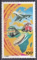 Dschibuti Djibouti 1981 Zusammenarbeit Cooperation Flugzeuge Aeroplanes Lokomotiven Trains Schiffe Ships LKW, Mi. 292 ** - Dschibuti (1977-...)