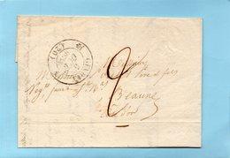 Cachet 12 GEVREY (20),taxe 2 Pour BEAUNE Le 5/10/33. - 1801-1848: Voorlopers XIX