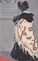 Ausstellung Munchen  1910, Meisterwerke  -  Ill.  Helene  Schmitt  -  Edit.  A. S. B.  N°. 31 ,  F. Bruckmann A. - Esposizioni
